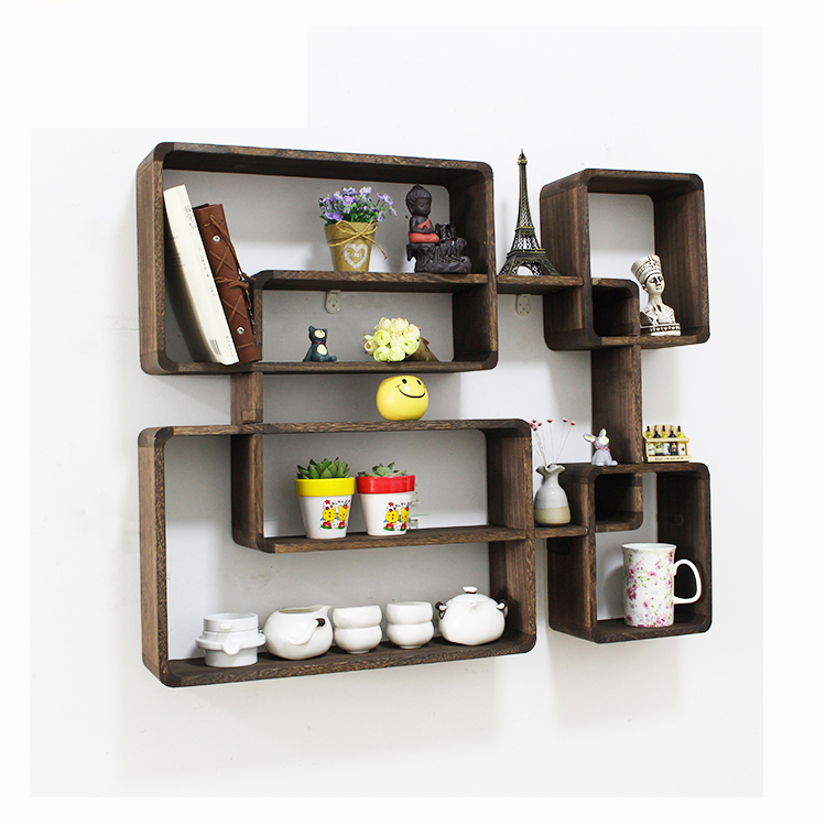 High quality luxury living room show pieces wooden rack for home decoration