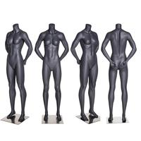 High end headless fashion female model standing sports female mannequin muscular full body mannequin
