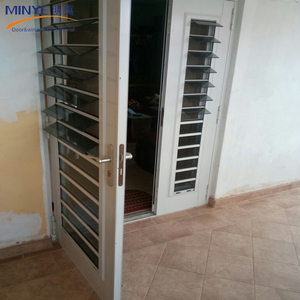 Toilet pvc door design/pvc sanitary profile/pvc plastic louvered door