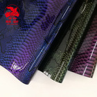 TPU coating Dragon Scales Microfiber Leather for fashion shoes and bags