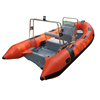 2017 Professional China CE RIB470 Luxury RIB boat inflatable rigid double deep V hull fiberglass fishing boat for sale