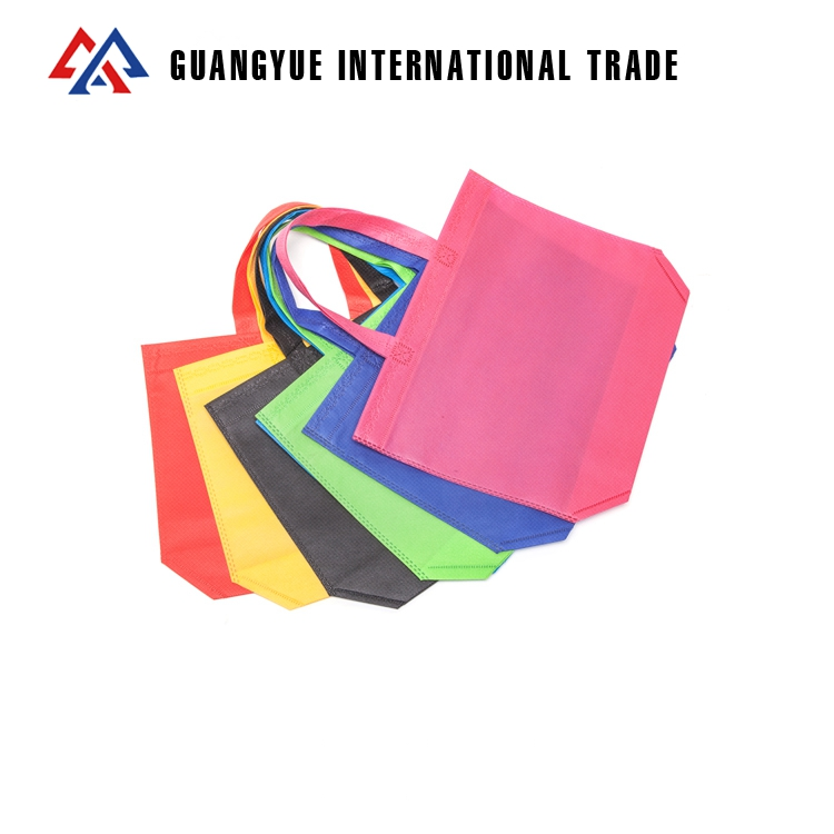 Guangyue Cheap Promotional Custom Printed 70GSM Ultrasonic PP Non Woven <strong>Tote</strong> Shopping Bags