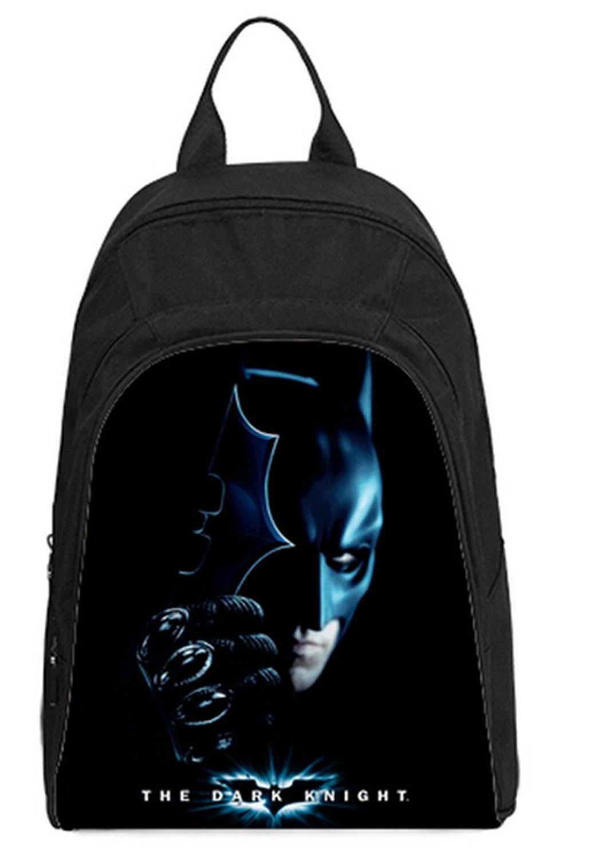6e61acfcd6a Get Quotations · Vintage Style Causul Backpack Daypack Rucksack Bookbag  Batman Theme Print