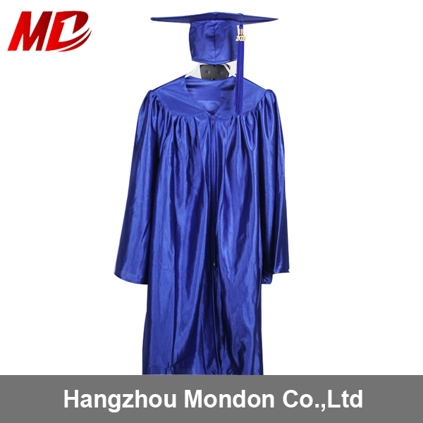 Royal Blue Shiny Material General Style Children Graduation Gown ...
