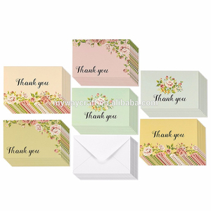 Beauty colorful printing birthday invitation card design,thank you greeting card custom