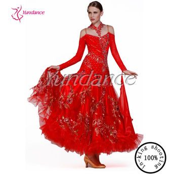 694e4d547d3 Red Sexy Ballroom Dance Dresses Competition Hot Sale B-11512 - Buy ...