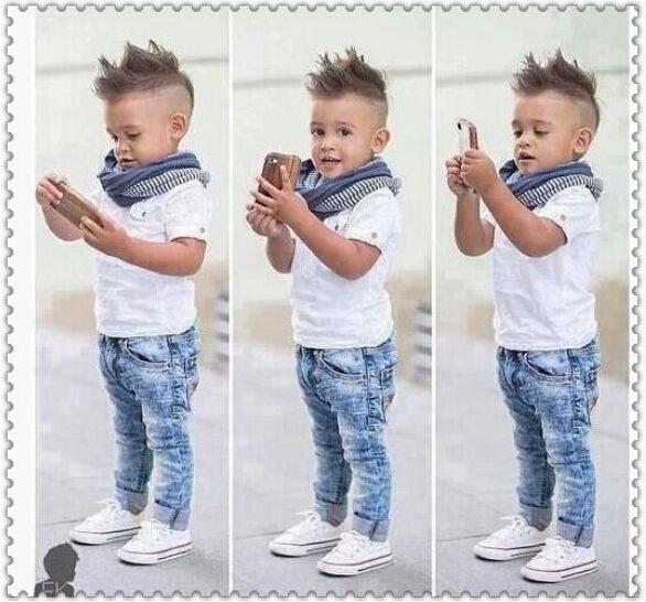 1c0b956db1855 Online Mağaza Alibaba Çocuk Giyim Setleri Pamuk Gömlek Ve Erkek Jean  Pantolon ...