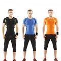 Summer Men Skintight Fitness Suits Quick Dry Elastic Sportswear Sets Yoga Running Bodybuilding Sports Suits Tops
