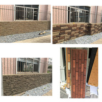 PU Faux stone Type and Tile Stone cheapest exterior Faux imitation wall stone siding panel