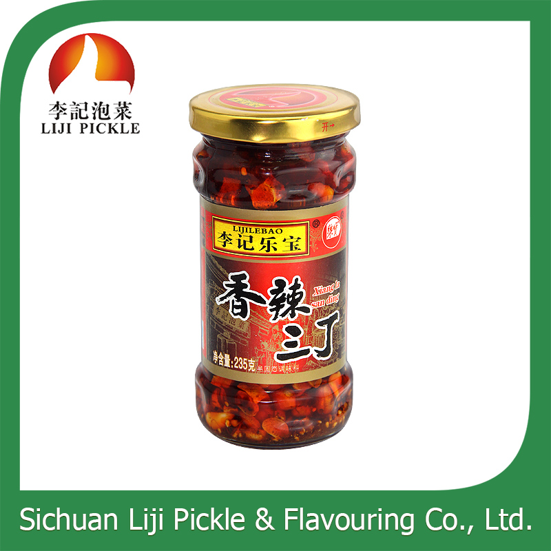 Style of nutritious natural peanut and hot peper sauce machine produce