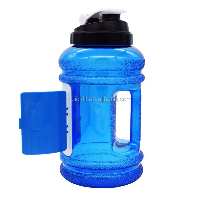 Sports Bottle With Storage Compartment: New Design 2.2l Bpa Free Plastic Gym Water Bottle With