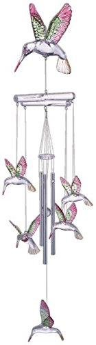 StealStreet SS-G-98675 Wind Chime Acrylic Hummingbird Hanging Garden Decoration Collection