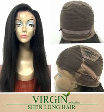 Bleach Knot Lace Wigs Kinky Straight Peruvian Virgin Human Hair Wig Full Lace Wigs