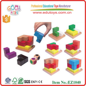 Wholesale Children Intelligence Block Toy Wooden Brain Storm Block(Set) Educational Toys For Kids