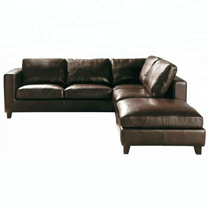 Dark Brown Leather Sectinal Sofa L