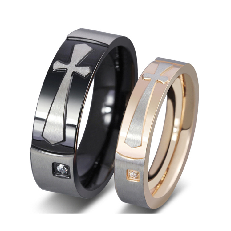 Get Quotations Western Mens And Womens Cz Diamonds Stainless Steel Engagement Wedding Bands Cross Design Couples Rings Sets