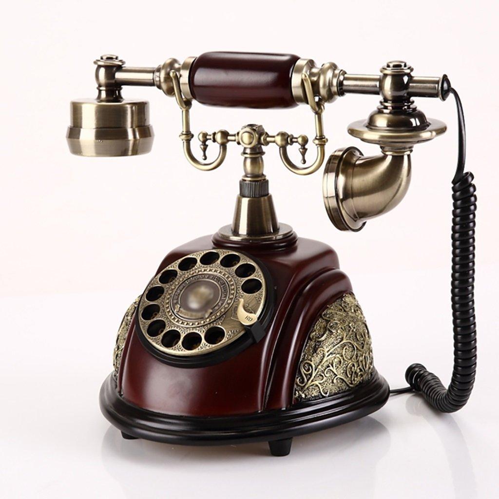 retro Telephone Retro Telephone European Fashion Creative Antique Telephone Home Fixed Landline Telephone Retro Phone ( Color : Rotate Hands-free )