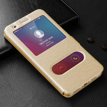 HuaWei Honor 5X Leather Case High Quality With Window View Protector Flip Cover Case For HuaWei Honor 5X Play Mobile Phone