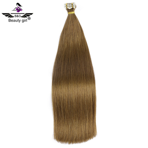 20 inch prime quality wholesale price pu skin weft 100% virgin cuticle indian remy temple hair extension tape
