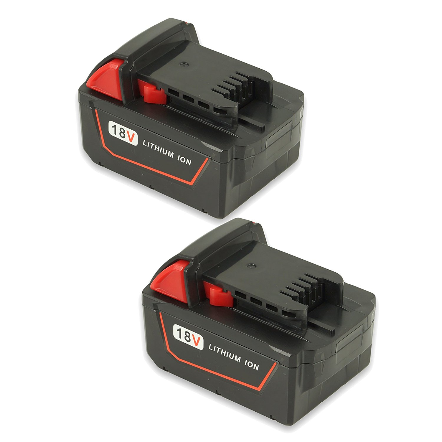Replacement M18 18 Volt 4.0Ah Lithium XC Battery for Milwaukee 48-11-1820 C18B Li18 M18 M18B M18B2 M18B4 M18BX 4932352071 4932430063 Cordless Power Tools 2 Pack
