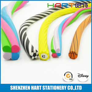 Top Quality Long Colorful Extruded Office Twisted Eraser