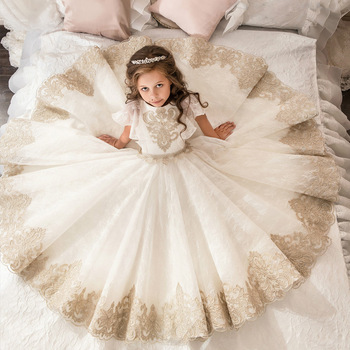 Boutique Wholesale Kids Girl Dress Wedding Prom Little Girls Ball Gowns  Flower Lace Bridesmaid Dresses 3b2fc88d1