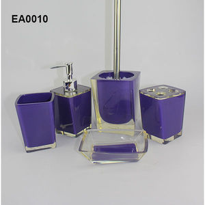 EA0010 sports bathroom accessorieswith soap dispenser and soap dish also toiletbrush holder