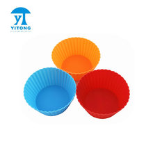 China maker keuken tool siliconen <span class=keywords><strong>bakken</strong></span> cup voor <span class=keywords><strong>taart</strong></span> decoratie, ronde vorm silicone cupcake liner/muffin cakevorm/muffin cup