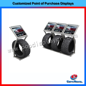 New design for 2017 floor standing single tire display rack