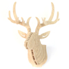 DIY Wooden Animal Deer Head Wall Hanging Creative Wood Home Wall Decor MDF Crafts Art 3D Wall Decoration