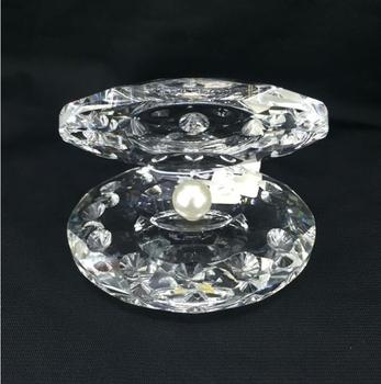 Wholesale Crystal Sea Shell With Pearl Wedding Gifts And Table