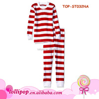 New Year Cute Kid Cotton Pajamas Christmas Outfit Fancy Blank Top Matching Fall Boutique Outfit Pant Baby Stripe pajamas set