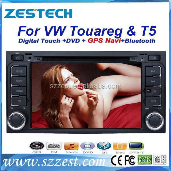 ZESTECH Touch Screen A8 car dvd player with gps for Volkswagen touareg support Bluetooth/Radio/GPS Navigation