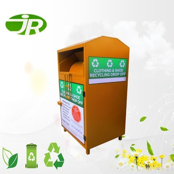 Old Clothes Recycling Bin Clothing Textile Collection Bins For Sales - Buy  Steel Clothing Bins For Sale,Metal Clothing Bin,Cheap Recycle Bin Product