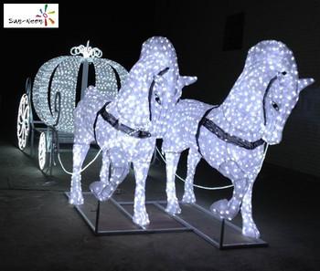 Christmas Decoration Horse Led Lighted