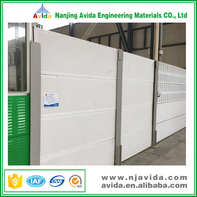 Perforated Noise Insulation Sound Barrier Wall for Highway Road
