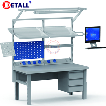 Astounding Esd Heavy Duty Workbench With Led Light For Night Work In Workshop Buy Workbench Heavy Duty Workbench Esd Workbench Product On Alibaba Com Ocoug Best Dining Table And Chair Ideas Images Ocougorg