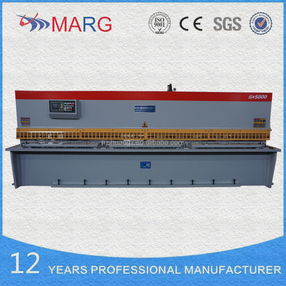 2017 New Designed hydraulic aluminum plate shearing machine ,QC12K-6*5000MM NC shears used for cutting <strong>iron</strong>
