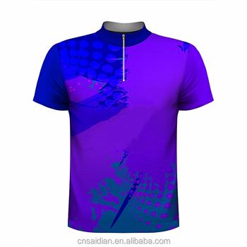 fa6033f84 Custom latest bowling t shirts design, high quality sublimation printed bowling  shirts