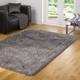Hand tufted grey color modern area tianjin carpets and rugs