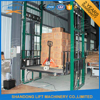 Electric vertical cargo elevated goods work platform for sale