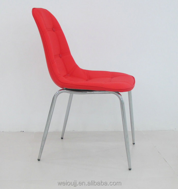 red color office used PU chairs