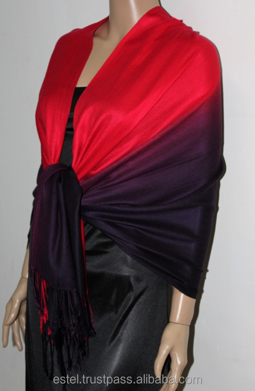Black & Red two tone very soft winter scarf