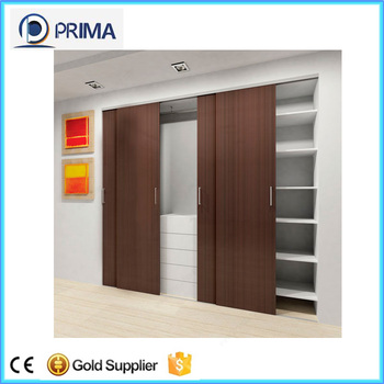 Wood Panel Sliding Closet Door For Hotel Design