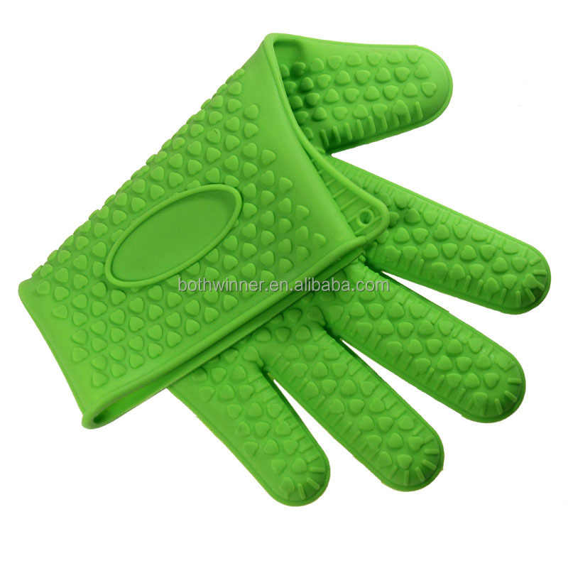 Anti-heat silicone oven gloves ,h0tne hot sale silicone rubber gloves	, silicone hear shape cooking gloves