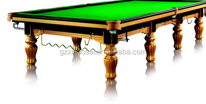 Hot selling new made solid wooden slate cheap 12ft for 12ft snooker table for sale