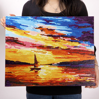 Free Mind Free Painting natural scenery decorative painting custom oil painting set