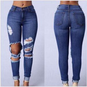 women hole sexy pencil new summer jeans pants trousers ladies fashion cotton jeans pants new style design Clothes