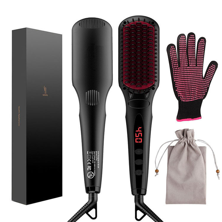 Hot <strong>hair</strong> <strong>straightener</strong> Heating New <strong>Hair</strong> Styling Tools Home Anion <strong>Hair</strong> <strong>Straightener</strong> Brush