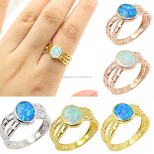 Wholesale Sweet Vintage Genuine Oval-shaped Opal White Gold Plated ...